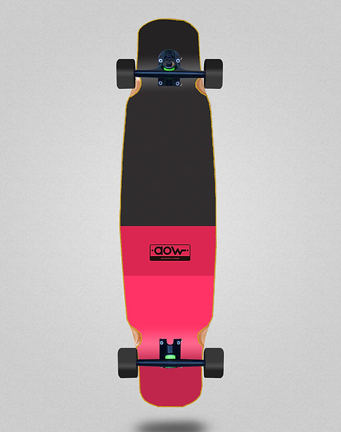 Aow Fastskate classic red longboard bamboo dance complete 46x9