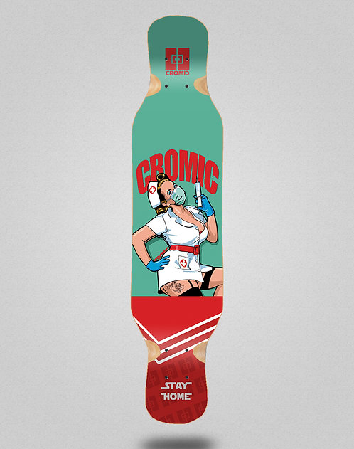 Cromic Covid Nurse longboard deck 46x10