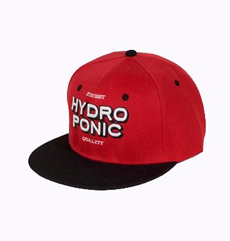 Hydroponic Skateboard snapback red logo