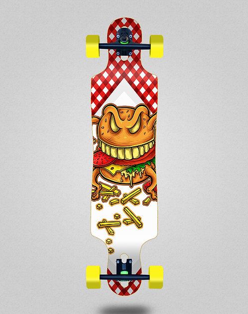 Cromic Burger crazy food longboard complete 40x9