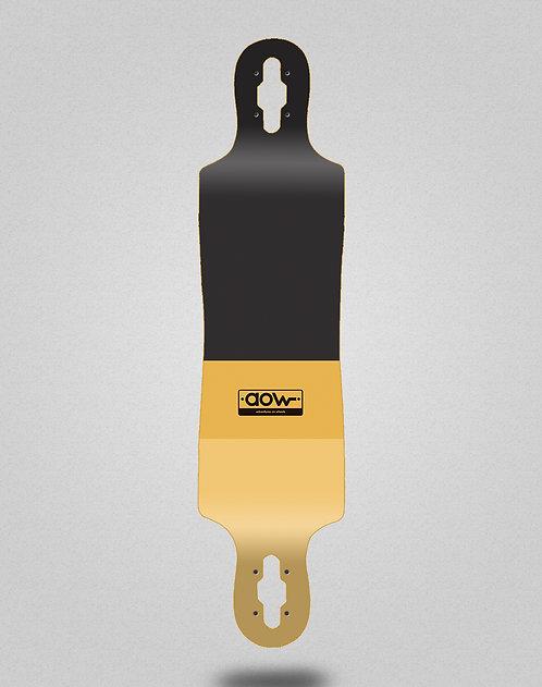 Aow Fastskate classic yellow longboard deck 40x9
