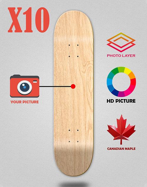 Personalizador skateboards decks X10 unidades