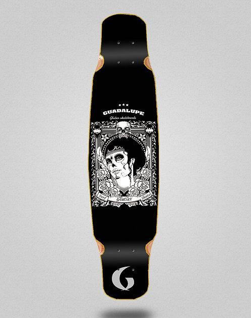 Glutier Guadalupe black longboard deck dance 46x9