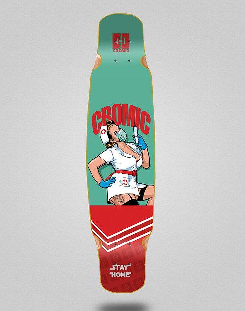 Cromic Covid Nurse longboard deck dance 46x9