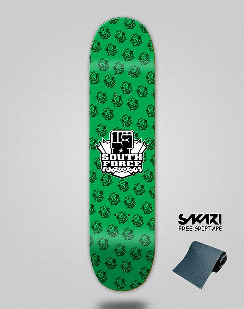 South force skate deck NF green