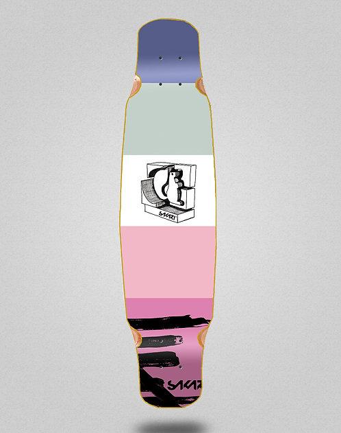 Sakari Cream longboard deck dance 46x9