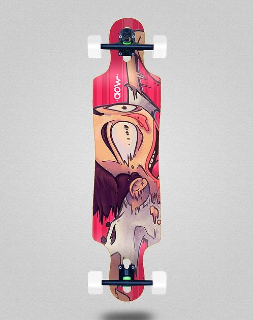 Aow Fastskate red longboard complete 40x9