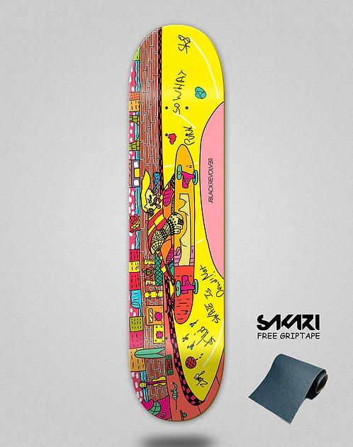 Black Revolver skate deck BR x Zib Lahat