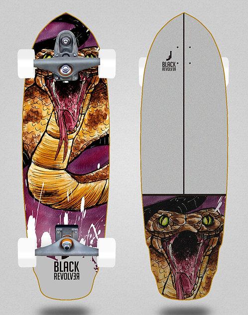 Black Revolver surfskate T12 trucks Acril Cobra 32 special
