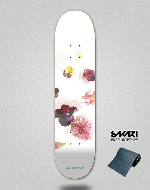 Black Revolver skate deck Beautiful death Toxic petals