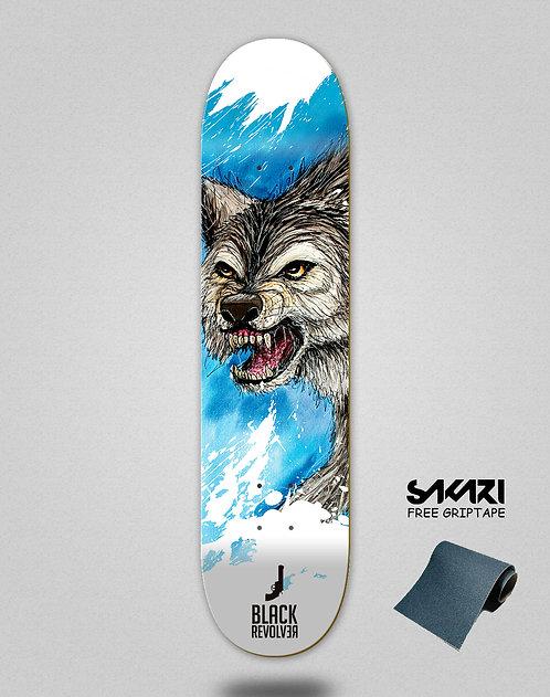 Black Revolver skate deck Animalia lobo