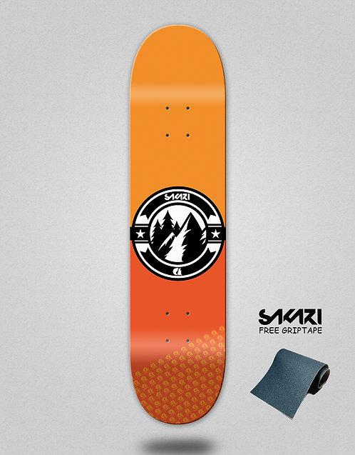 Sakari Downhill juice orange skate deck