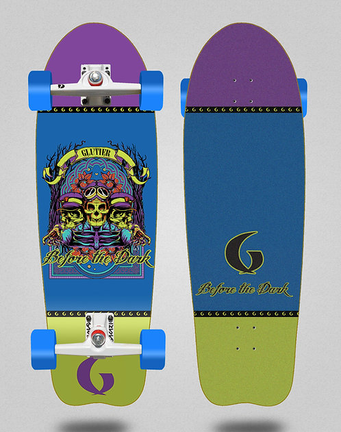 Glutier surfskate - Before the dark 31 fish SGI trucks