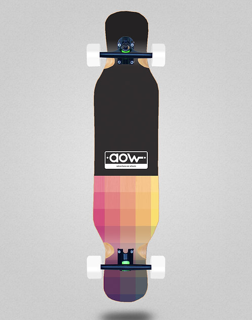Aow Pixels black longboard complete 46x10