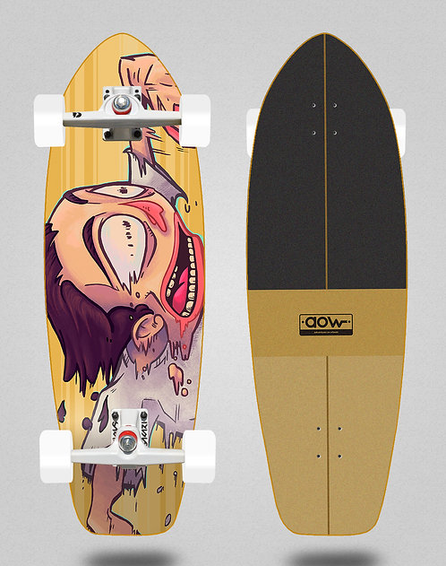 Aow surfskate SGI trucks Fastskate yellow 31
