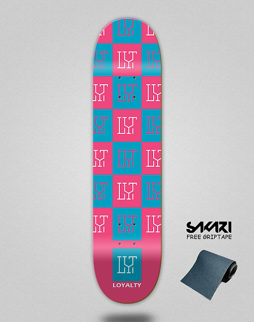 Loyalty deck Squares pink blue