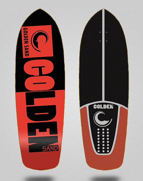 Golden Sand deck - Degraded tone black red 34