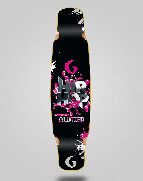 Glutier Hip silver longboard deck dance 46x9