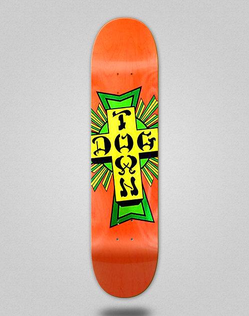 Dogtown street cross logo deck 8.5x32.45 orange green