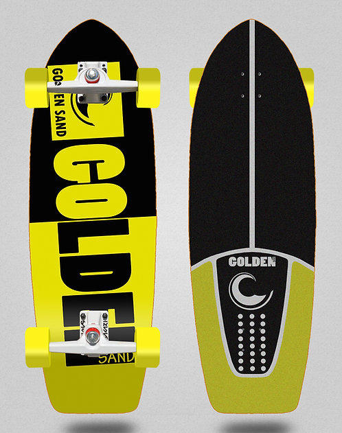 Golden Sand surfskate SGI Degraded tone black yellow 29
