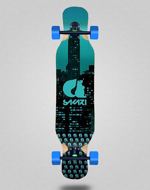 Sakari City blue longboard complete 46x10