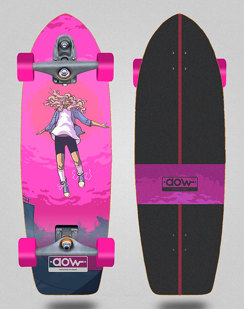 Aow surfskate T12 trucks Floating pink 30
