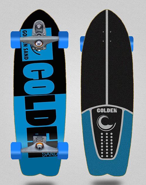 Golden Sand surfskate T12 trucks Degraded tone black blue 29 fish