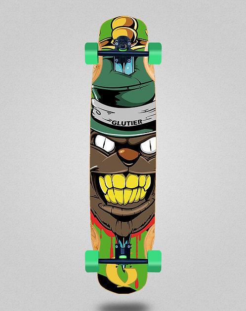 Glutier Gr cat green longboard complete 38x8.45