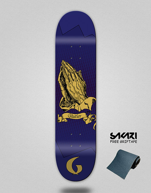 Glutier Miracle blue skate deck