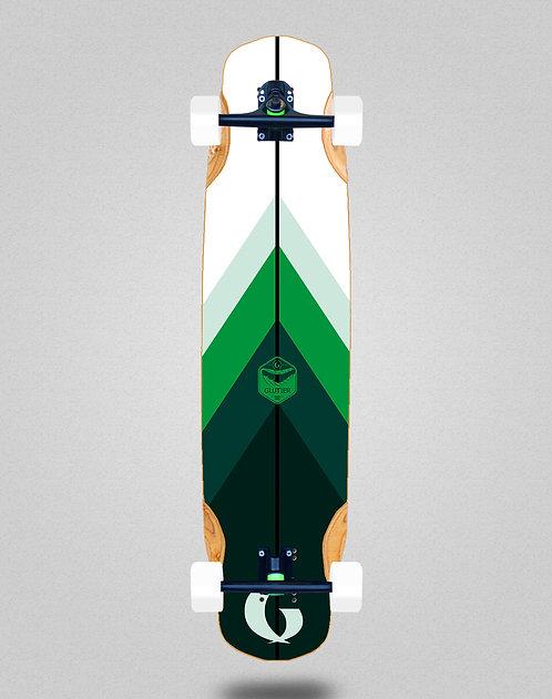 Glutier Green style longboard complete 38x8.45