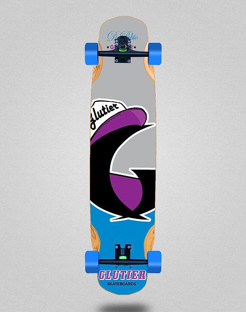Glutier California blue longboard complete 38x8.45