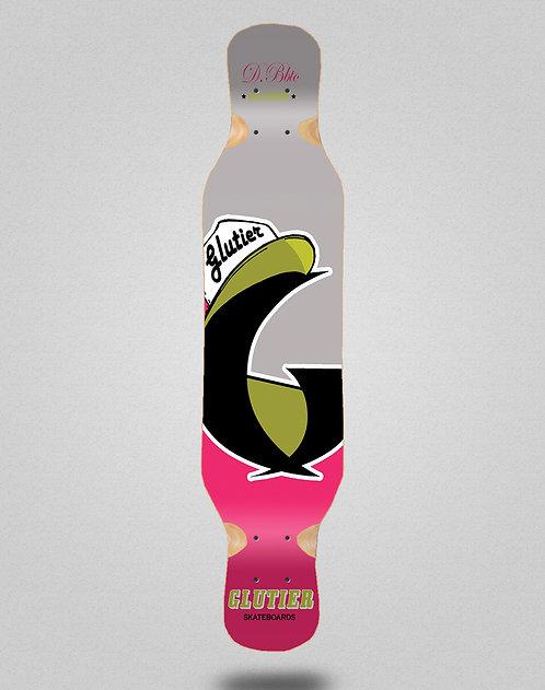 Glutier California pink longboard deck 46x10