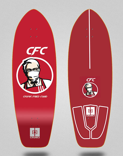 Cromic surfskate deck - Covid Fried 31