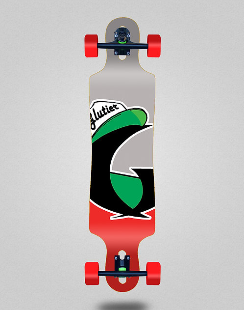 Glutier California red longboard complete 40x9