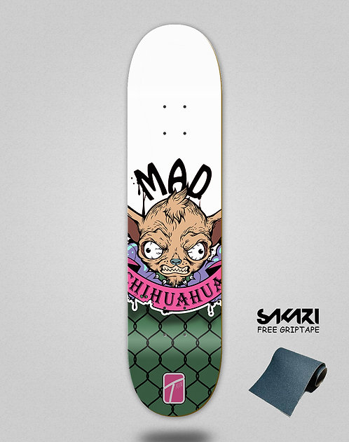 Txin Mad Chihuahua pink skate deck