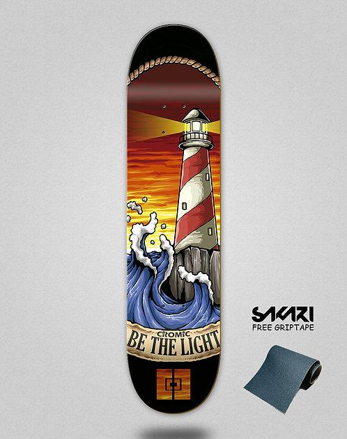 Cromic Be the light skate deck