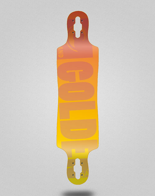 Golden Sand Degraded red yellow longboard deck 40x9