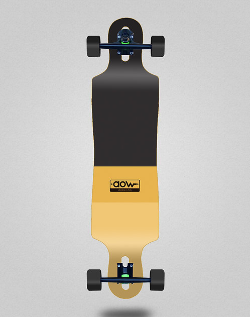 Aow Fastskate classic yellow longboard complete 40x9
