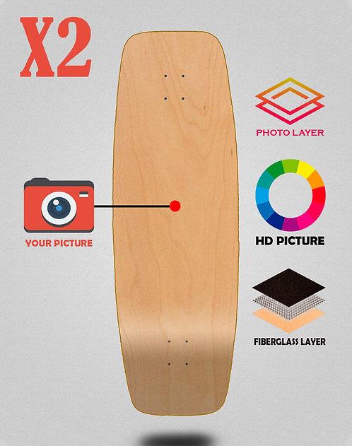 Personalizador surfskate deck 27.25 X2 unidades