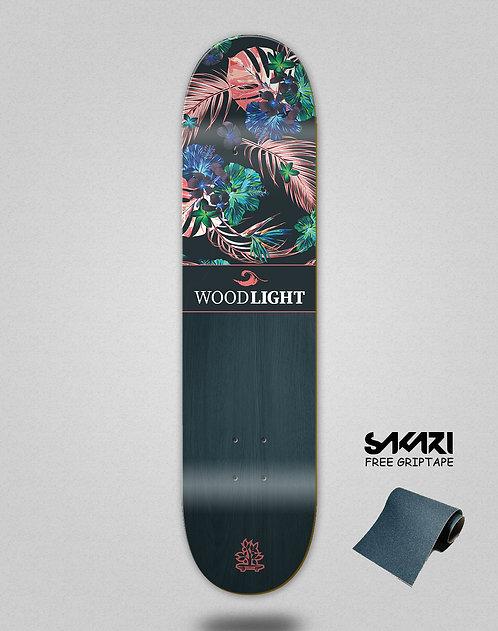 Wood light skate deck Floral Samoa