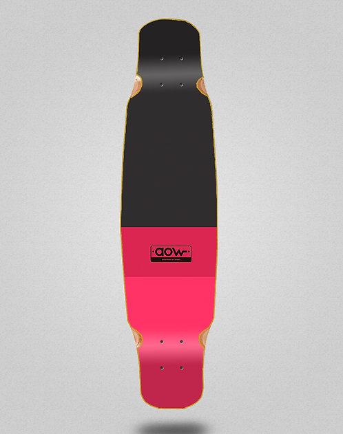 Aow Fastskate classic red longboard deck bamboo dance 46x9