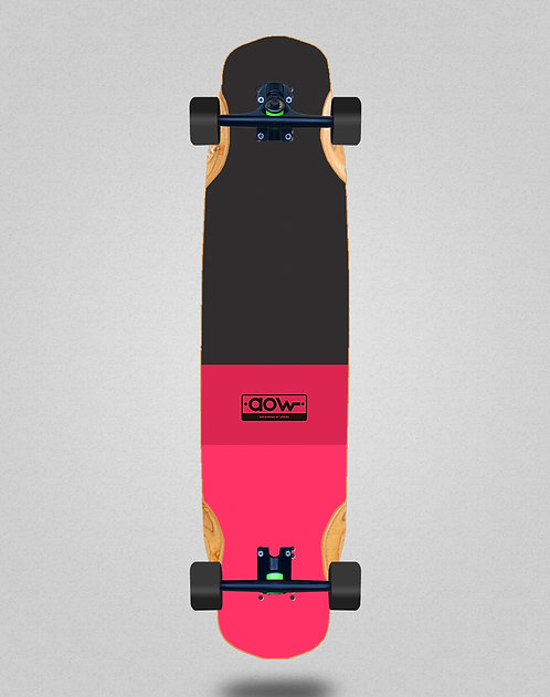 Aow Fastskate classic red longboard complete 38x8.45