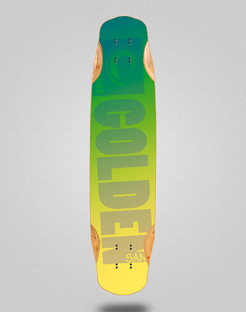 Golden Sand Degraded green yellow longboard deck 38x8.45
