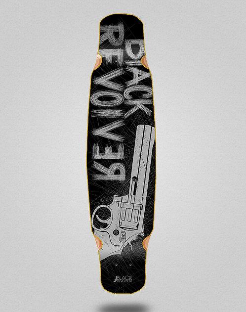 Black Revolver Big gun black grey longboard deck bamboo dance 46x9
