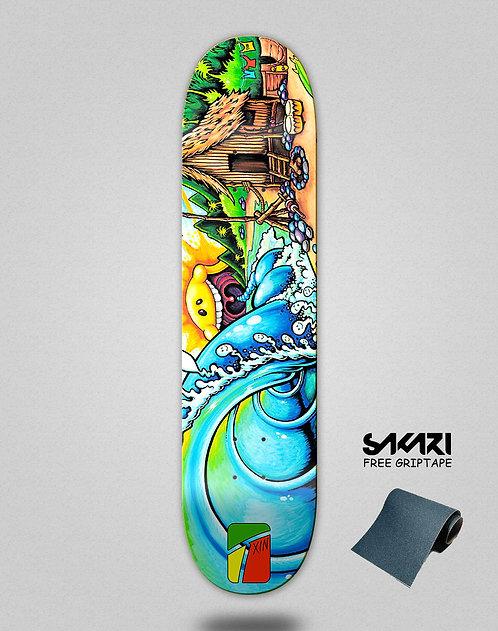Txin House paradise skate deck