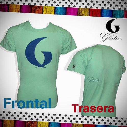 Glutier. surfskate T-shirt green blue