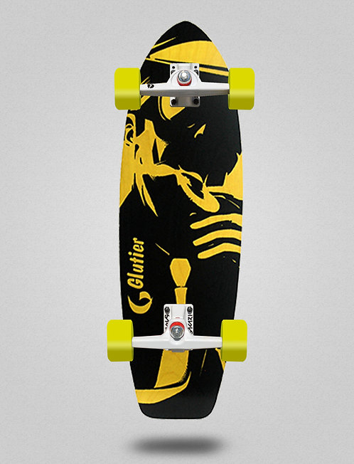 Glutier surfskate - Mafia Gansta yellow 31