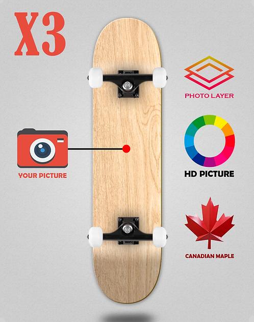 Personalizador skateboards completes X3 unidades