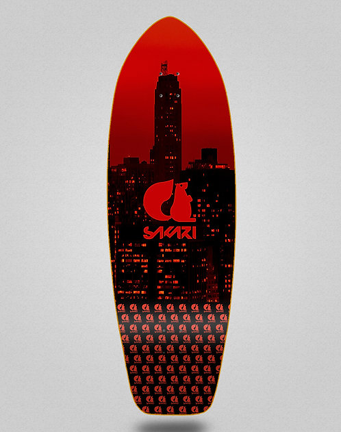 Sakari surfskate deck - City red 31