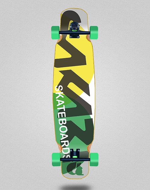 Sakari Fus yellow green longboard dance complete 46x9